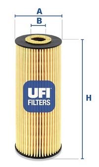 Filtre a huile UFI 25.162.00 (X1)