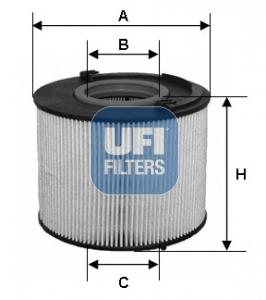 Filtre a carburant UFI 26.015.00 (X1)