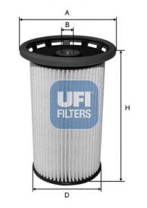 Filtre a carburant UFI 26.025.00 (X1)