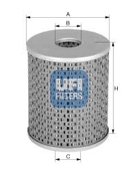 Filtre a carburant UFI 26.670.00 (X1)