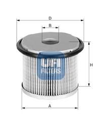 Filtre a carburant UFI 26.690.00 (X1)