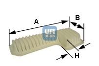 Filtre a air UFI 30.288.00 (X1)