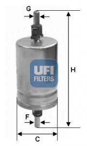 Filtre a carburant UFI 31.510.00 (X1)
