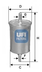 Filtre a carburant UFI 31.515.00 (X1)
