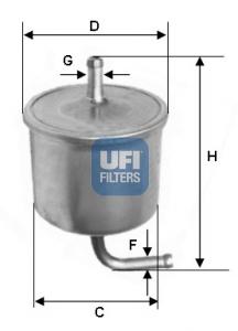 Filtre a carburant UFI 31.540.00 (X1)