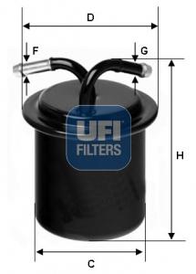 Filtre a carburant UFI 31.541.00 (X1)