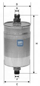 Filtre a carburant UFI 31.576.00 (X1)