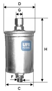 Filtre a carburant UFI 31.577.00 (X1)