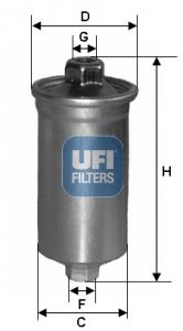 Filtre a carburant UFI 31.699.00 (X1)