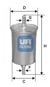 Filtre a carburant UFI 31.923.00 (X1)