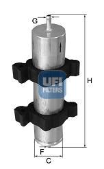 Filtre a carburant UFI 31.950.00 (X1)