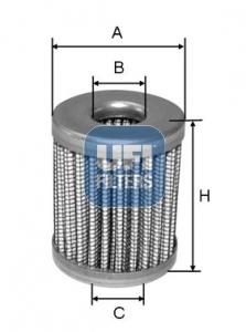 Filtre a carburant UFI 46.005.00 (X1)