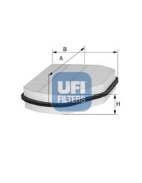 Filtre d'habitacle UFI 53.007.00 (X1)