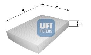 Filtre d'habitacle UFI 53.019.00 (X1)