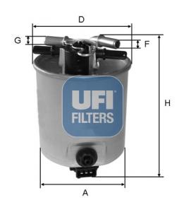 Filtre a carburant UFI 55.393.00 (X1)