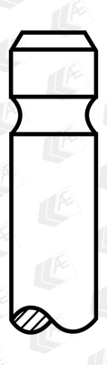 Soupape d'échappement AE V98069 (Jeu de 4)