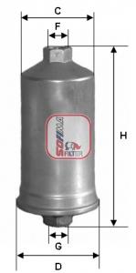 Filtre a carburant SOFIMA S 1504 B (X1)