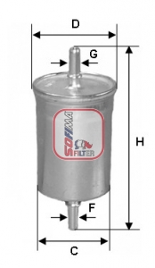 Filtre a carburant SOFIMA S 1515 B (X1)