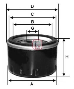 Filtre a huile SOFIMA S 3216 R (X1)