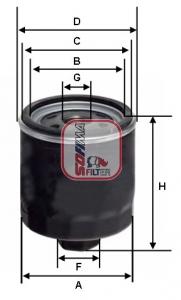 Filtre a huile SOFIMA S 5603 R (X1)