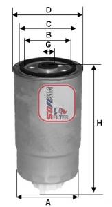 Filtre a carburant SOFIMA S 8501 NR (X1)