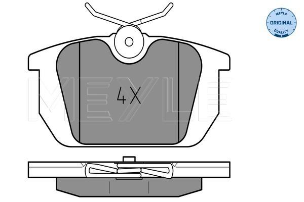 Plaquettes de frein arriere MEYLE 025 211 0314 (X1)
