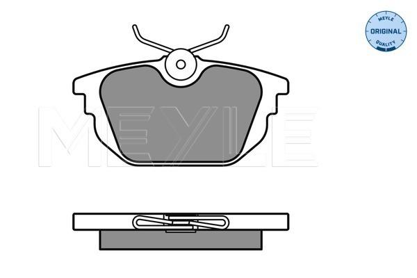 Plaquettes de frein arriere MEYLE 025 231 7714 (X1)
