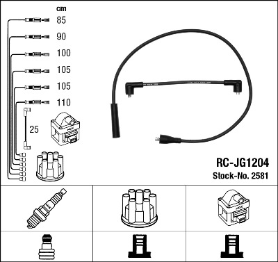 Cable d'allumage NGK 2581 (X1)
