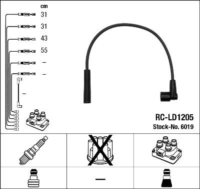 Câble D/'allumage Beru Bobine d/'allumage de bougies LADA Niva 1700 injection 21214