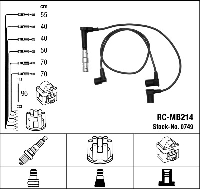 Cable d'allumage NGK 0749 (X1)