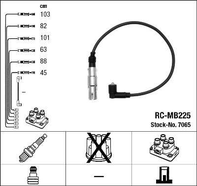 Cable d'allumage NGK 7065 (X1)