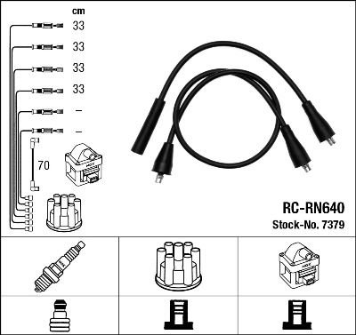 Cable d'allumage NGK 7379 (X1)