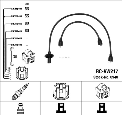 Cable d'allumage NGK 0948 (X1)