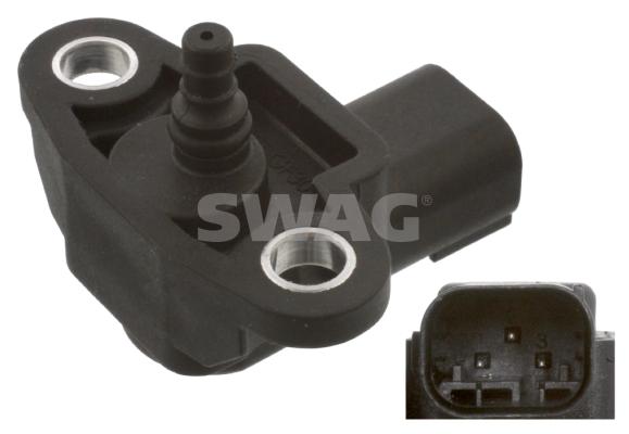 Capteur, pression de suralimentation SWAG 10 93 8494 (X1)