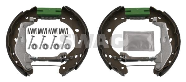 Jeu de mâchoires de frein de frein à main SWAG 12 93 4476 (X1)