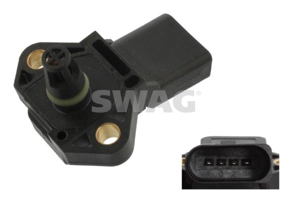 Capteur, pression de suralimentation SWAG 30 93 6116 (X1)