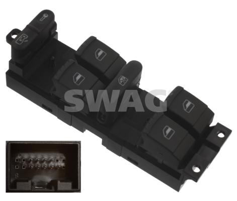 Interrupteur, leve-vitre SWAG 30 93 7644 (X1)