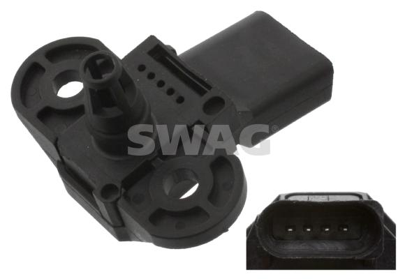 Capteur, pression de suralimentation SWAG 30 94 4242 (X1)