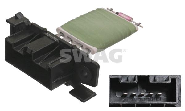 Resistance moteur de ventilateur de chauffage SWAG 40 10 0043 (X1)