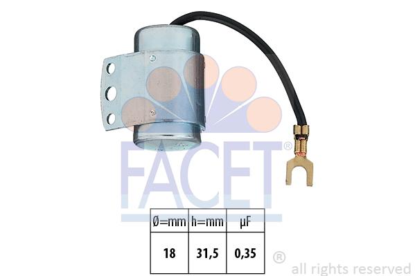 Condensateur d'allumage FACET 0.0065 (X1)
