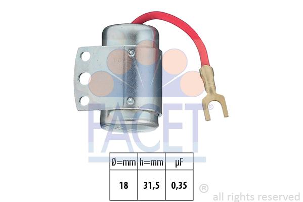 Condensateur d'allumage FACET 0.0066 (X1)