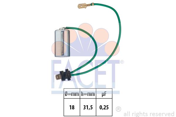 Condensateur d'allumage FACET 0.0179/108 (X1)