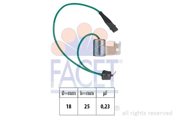 Condensateur d'allumage FACET 0.0179/112 (X1)