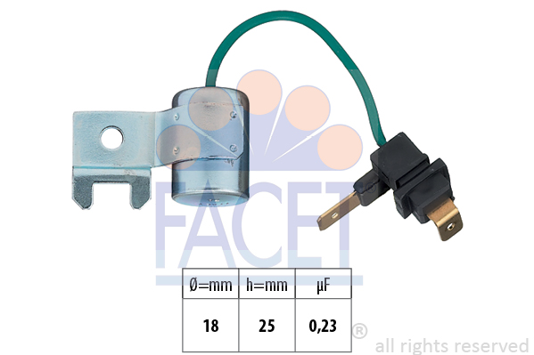 Condensateur d'allumage FACET 0.0179/157 (X1)