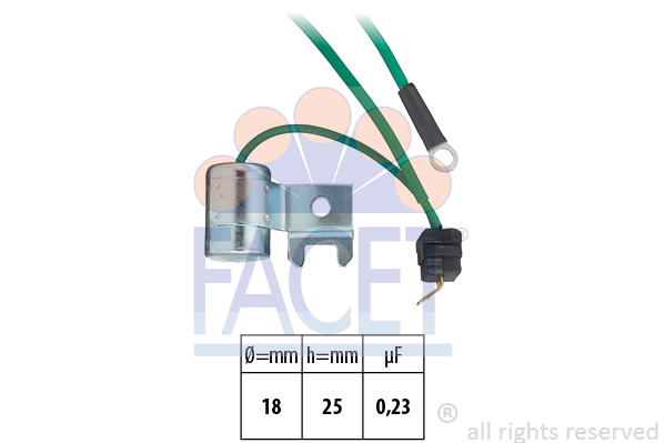 Condensateur d'allumage FACET 0.0179/74 (X1)