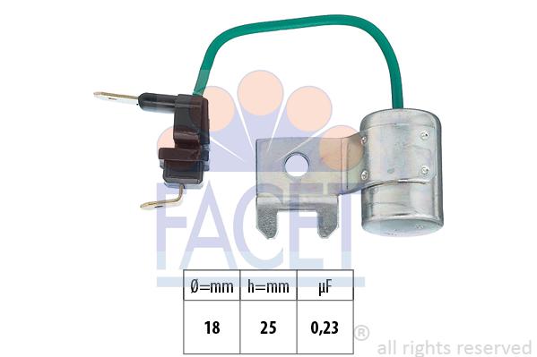 Condensateur d'allumage FACET 0.0179/95 (X1)