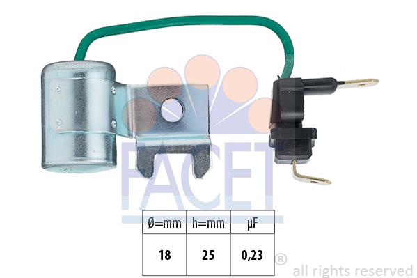 Condensateur d'allumage FACET 0.0179/96 (X1)