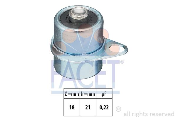 Condensateur d'allumage FACET 0.0251 (X1)