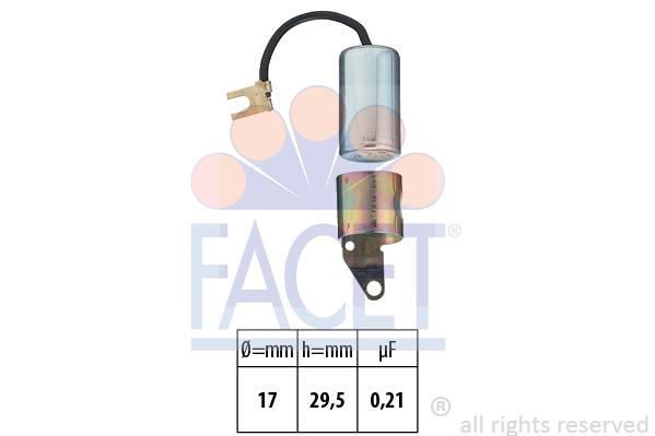 Condensateur d'allumage FACET 0.0267 (X1)