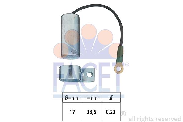 Condensateur d'allumage FACET 0.0323 (X1)